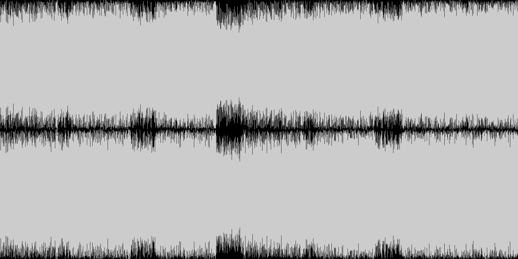 ループ可の疾走感のある立ち向かう系の曲の未再生の波形