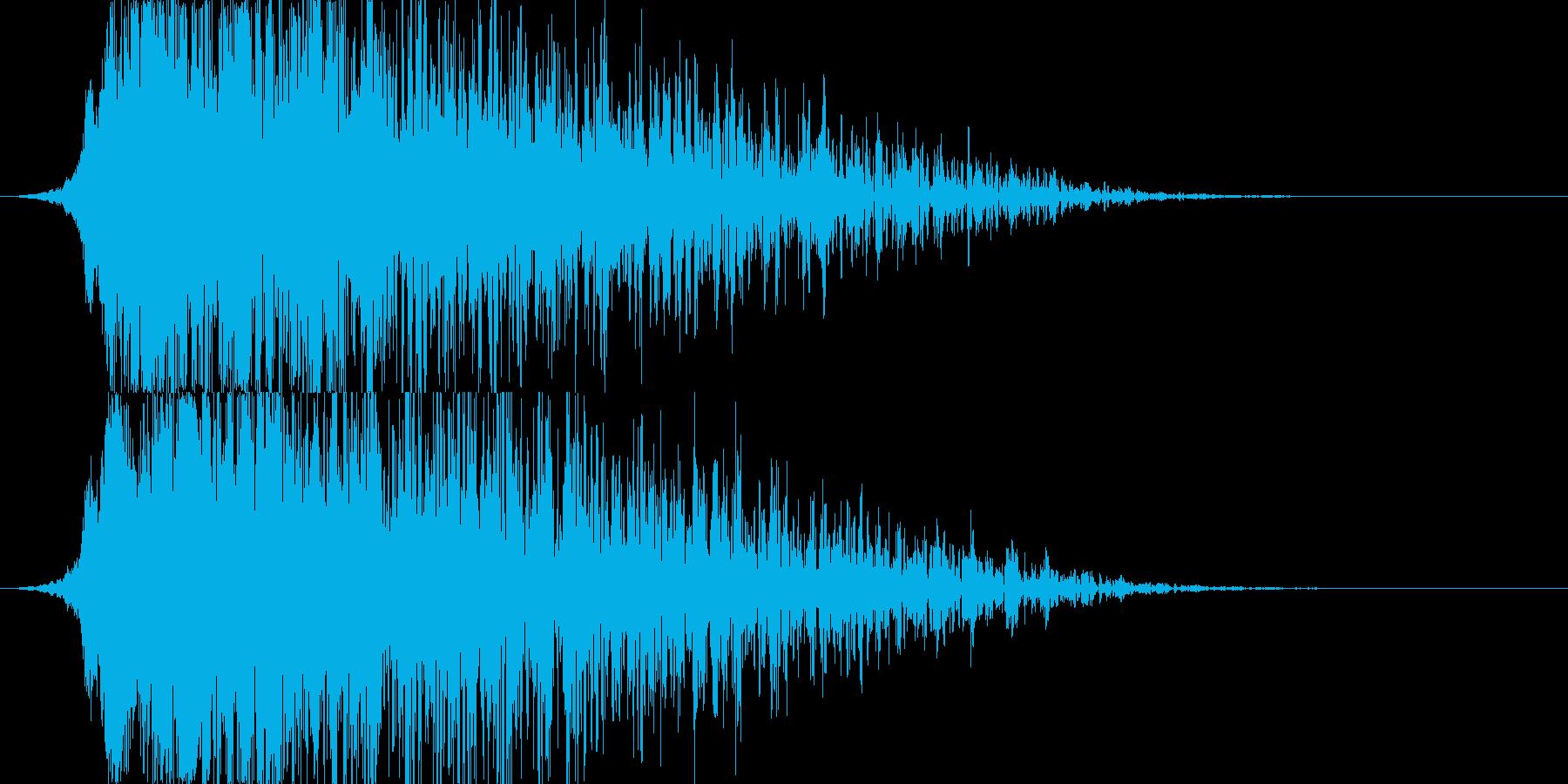 シャキーン!地震や爆発系の演出/魔法05の再生済みの波形