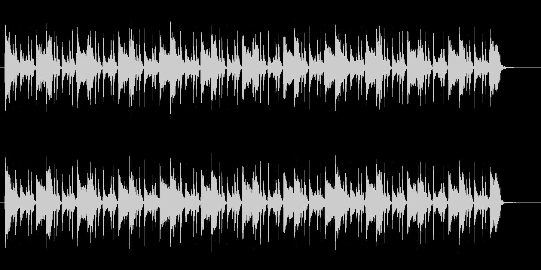 ファンクっぽい爽やかな曲の未再生の波形
