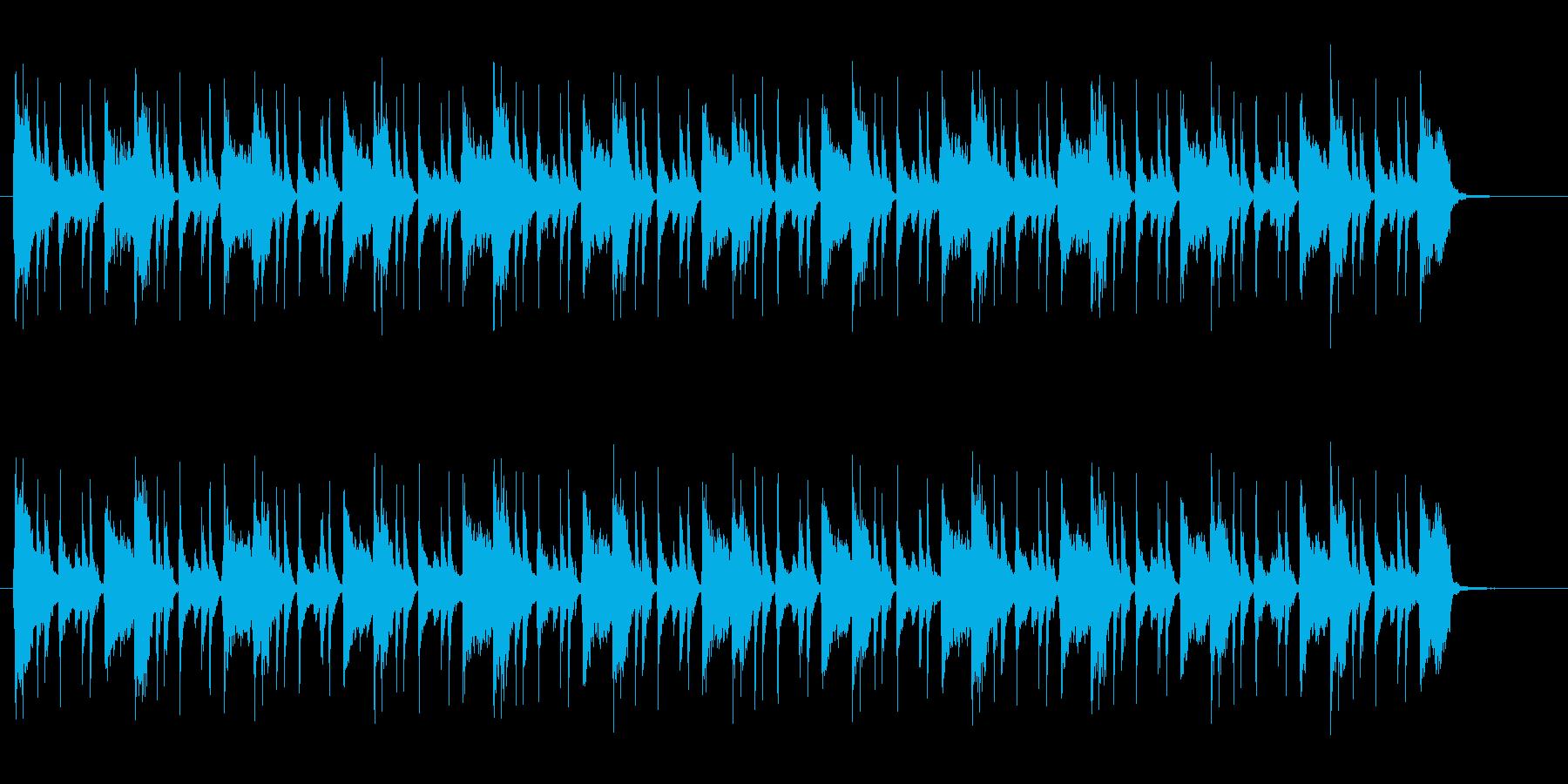 ファンクっぽい爽やかな曲の再生済みの波形