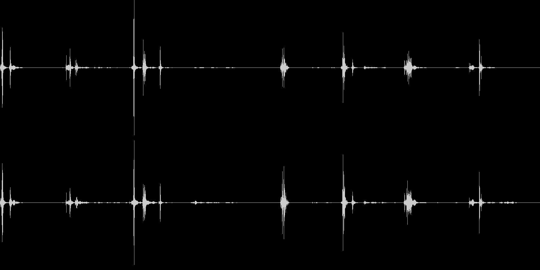 ガムを噛むの未再生の波形