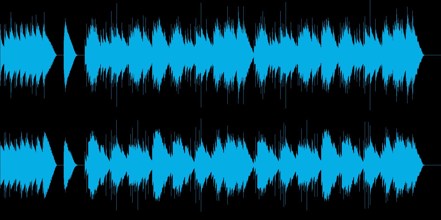 バダジェフスカ 乙女の祈り オルゴールの再生済みの波形