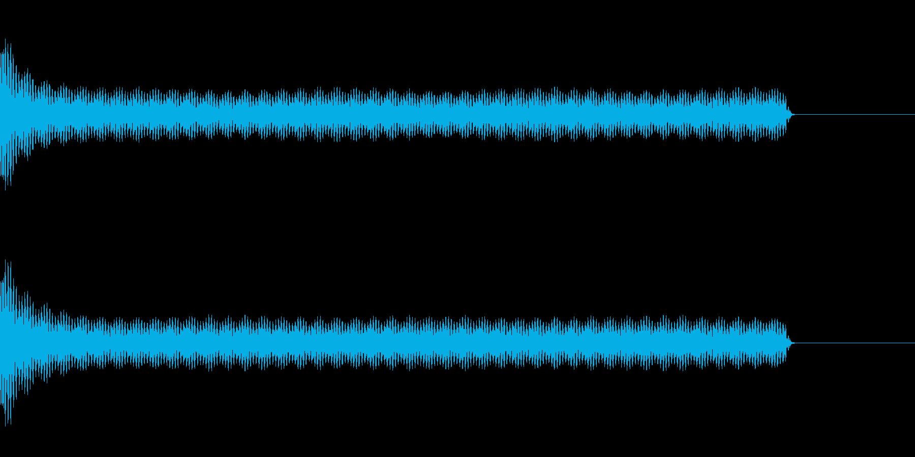 工事中のうるさいドリル音(長)の再生済みの波形