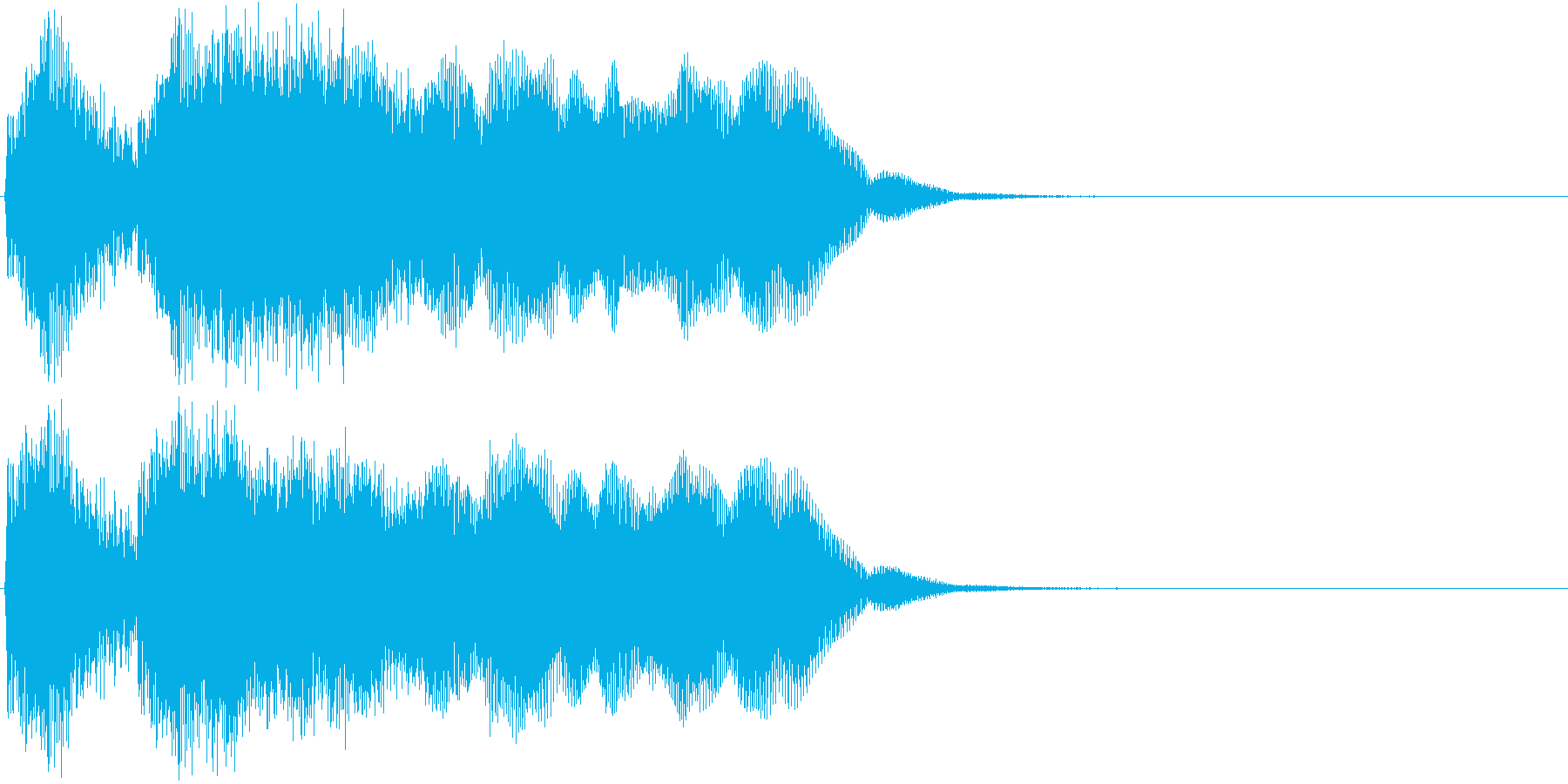 テッテレー。成功・当選音Aの再生済みの波形