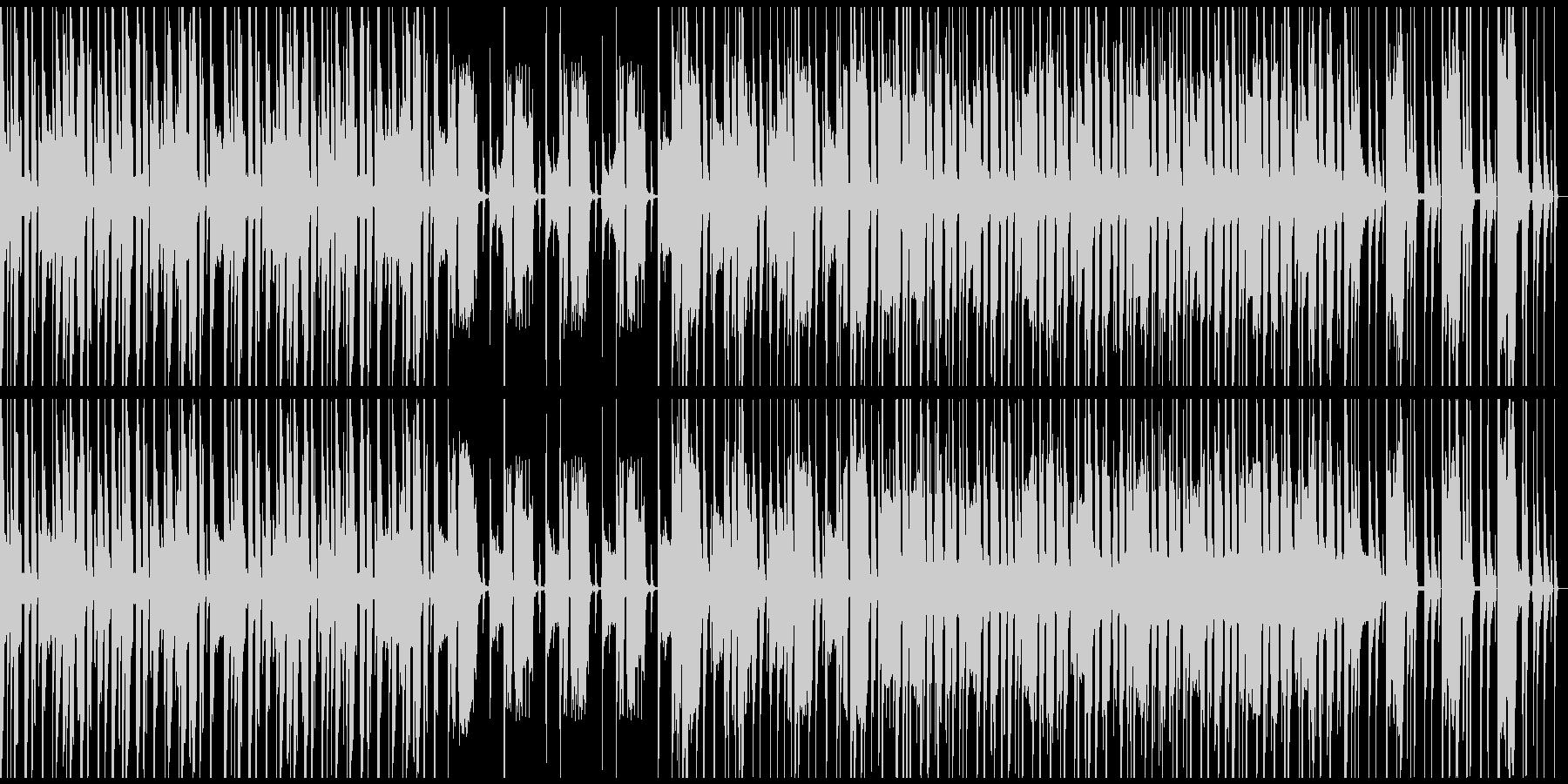 ループ仕様、軽快・コミカルなBGMの未再生の波形