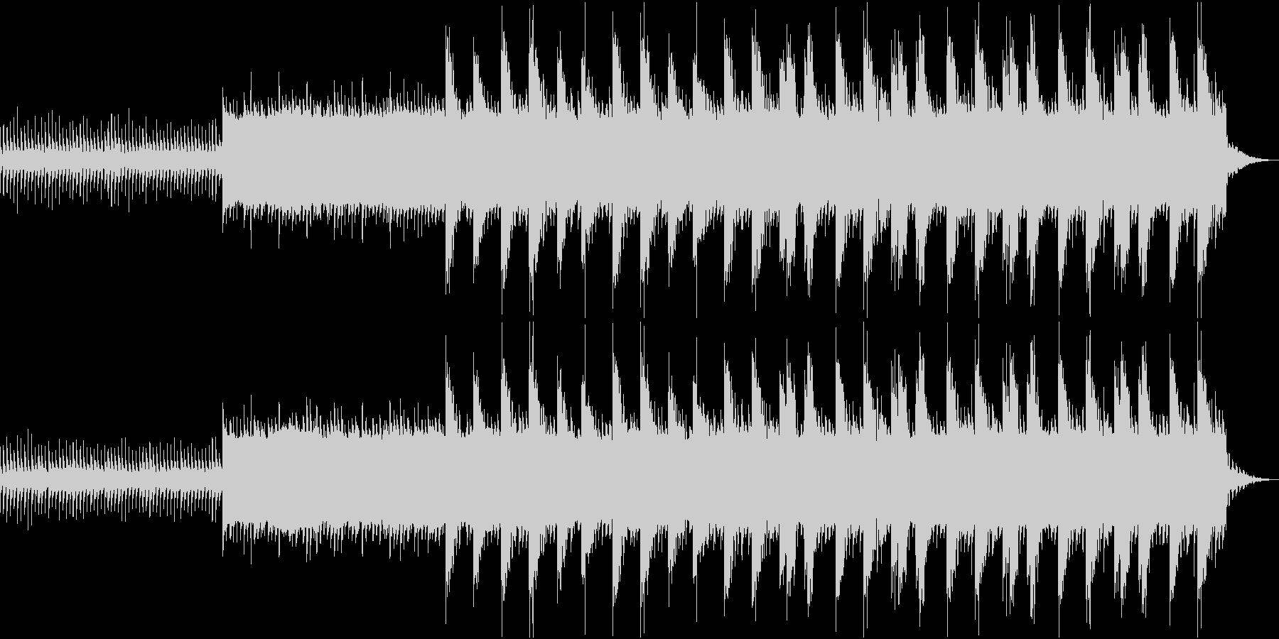 ホラー感のある暗いBGMの未再生の波形