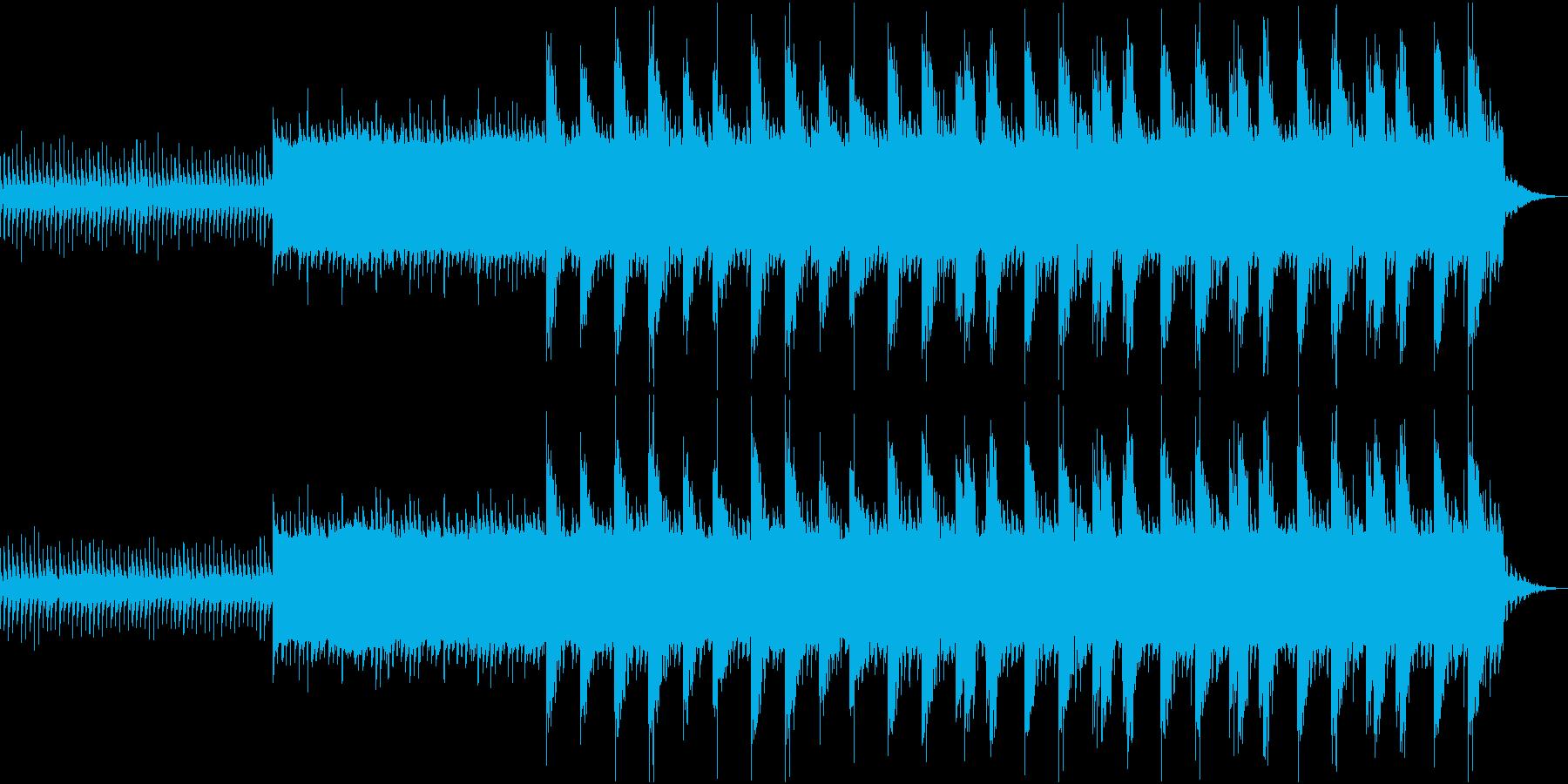 ホラー感のある暗いBGMの再生済みの波形