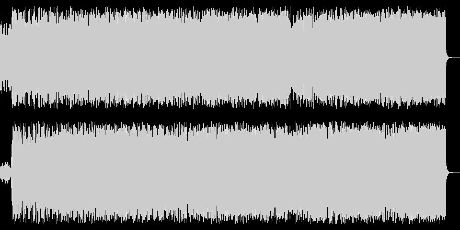 王道スラッシュメタルギターインストの未再生の波形
