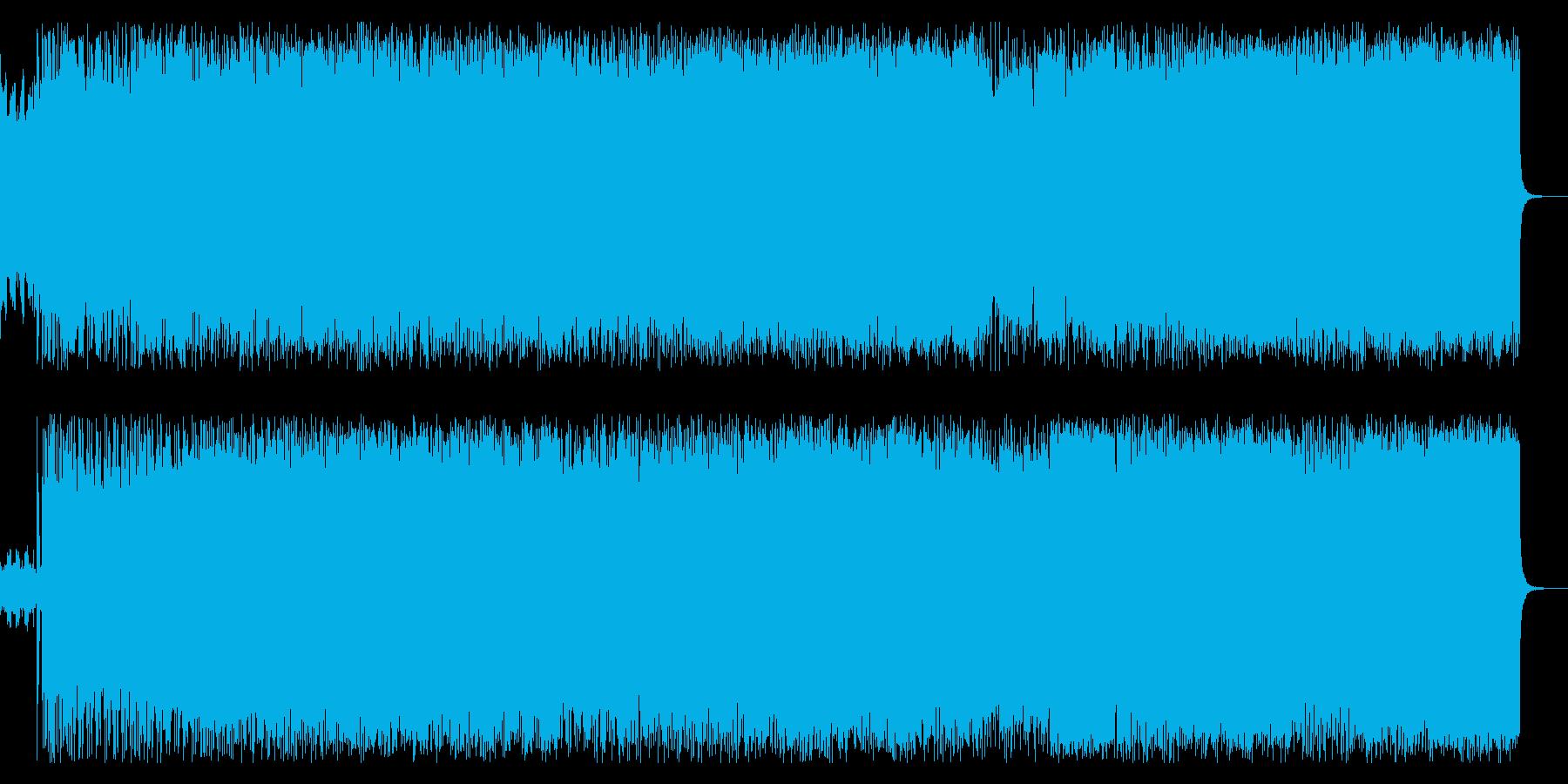 王道スラッシュメタルギターインストの再生済みの波形