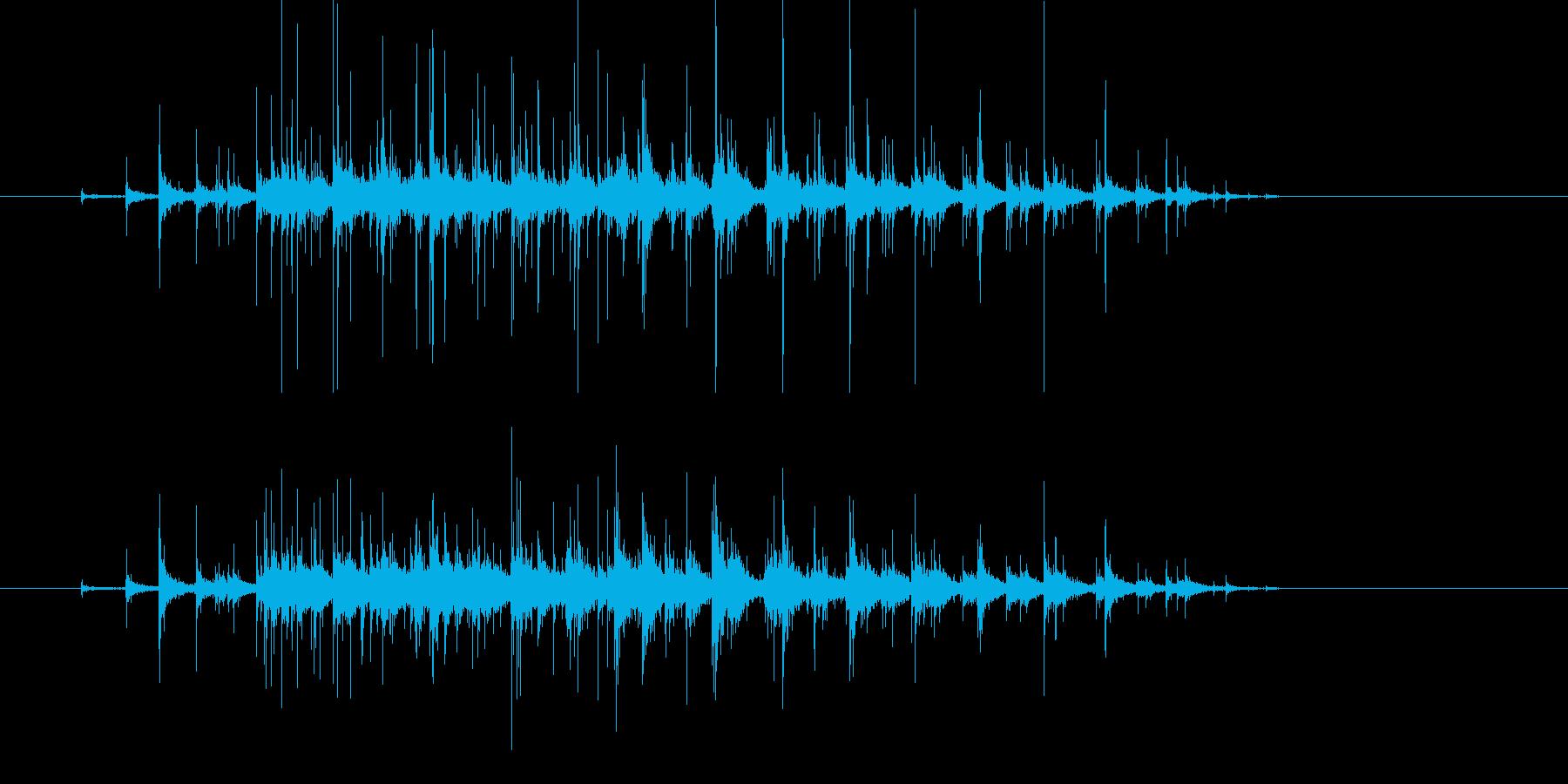 ささやかな拍手 録音 Clappingの再生済みの波形
