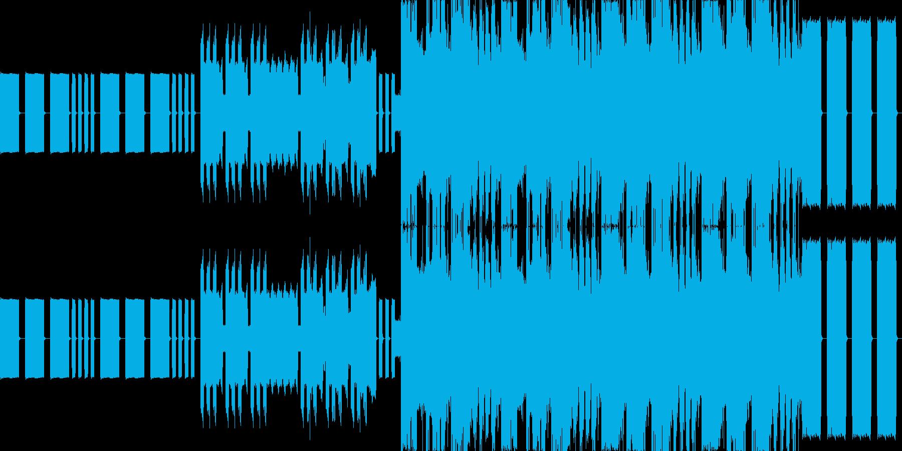 ピコピコしたゲームサウンドの再生済みの波形