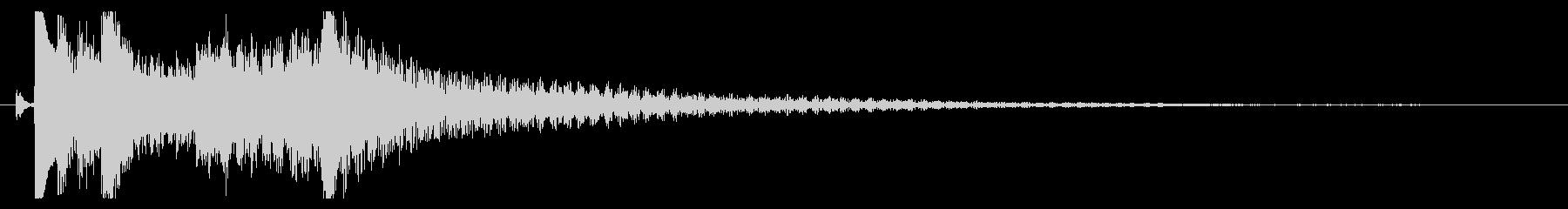 琴の駆け下がりの効果音の未再生の波形