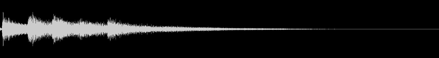 【ロゴ、ジングル】ピアノ01の未再生の波形