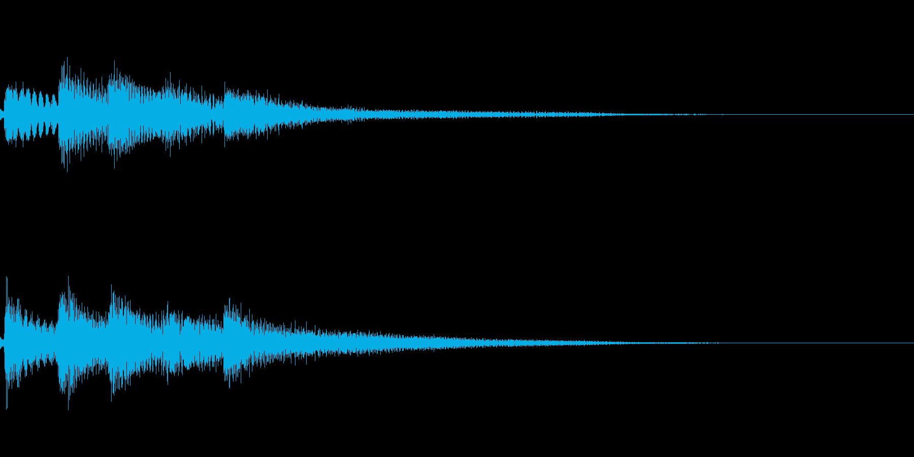 【ロゴ、ジングル】ピアノ01の再生済みの波形