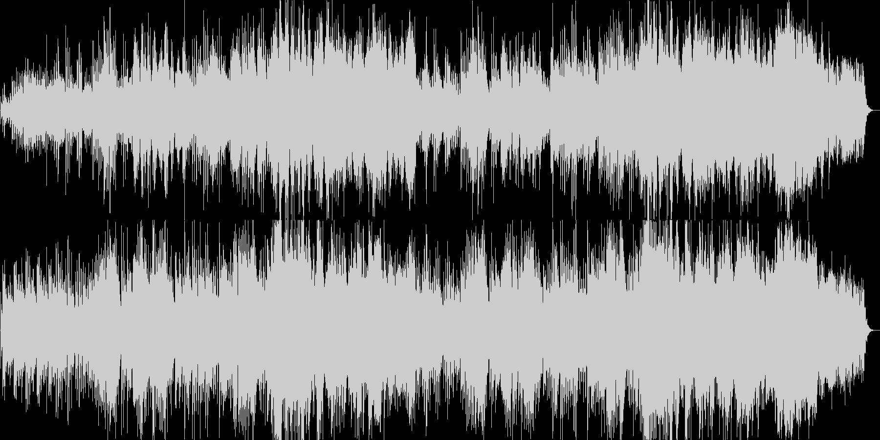 ゆったりと癒されるBGMの未再生の波形