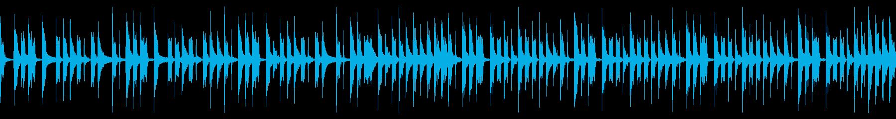 シンプルなベースループの再生済みの波形