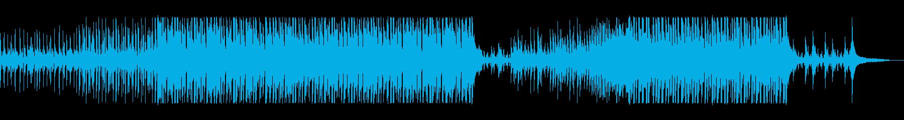 ラテン風味のエレクトロポップスの再生済みの波形