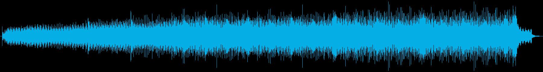 ミニマルなシンセ音が印象的なBGMの再生済みの波形