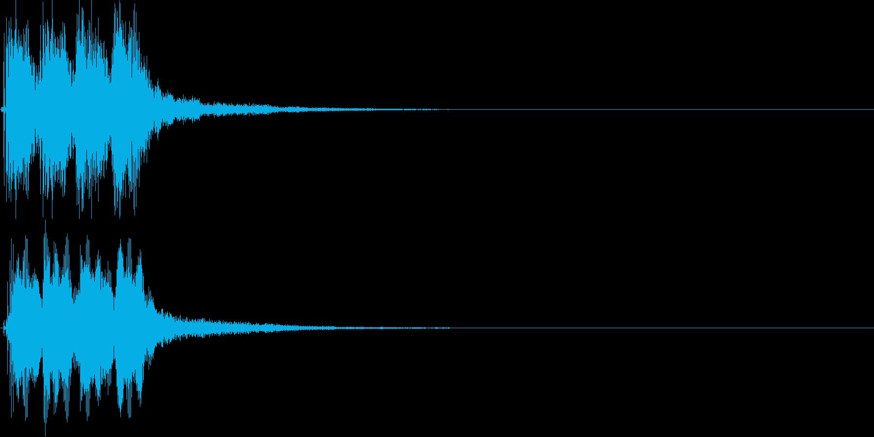ピピピ(警告音、ゲーム魔法、発見)の再生済みの波形