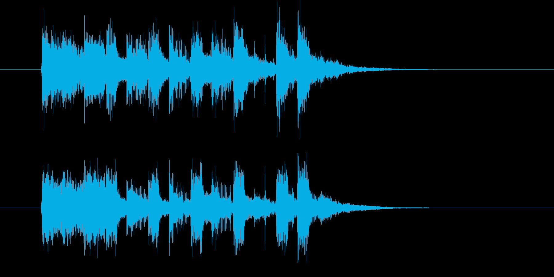 軽快なリズムのポップスの再生済みの波形