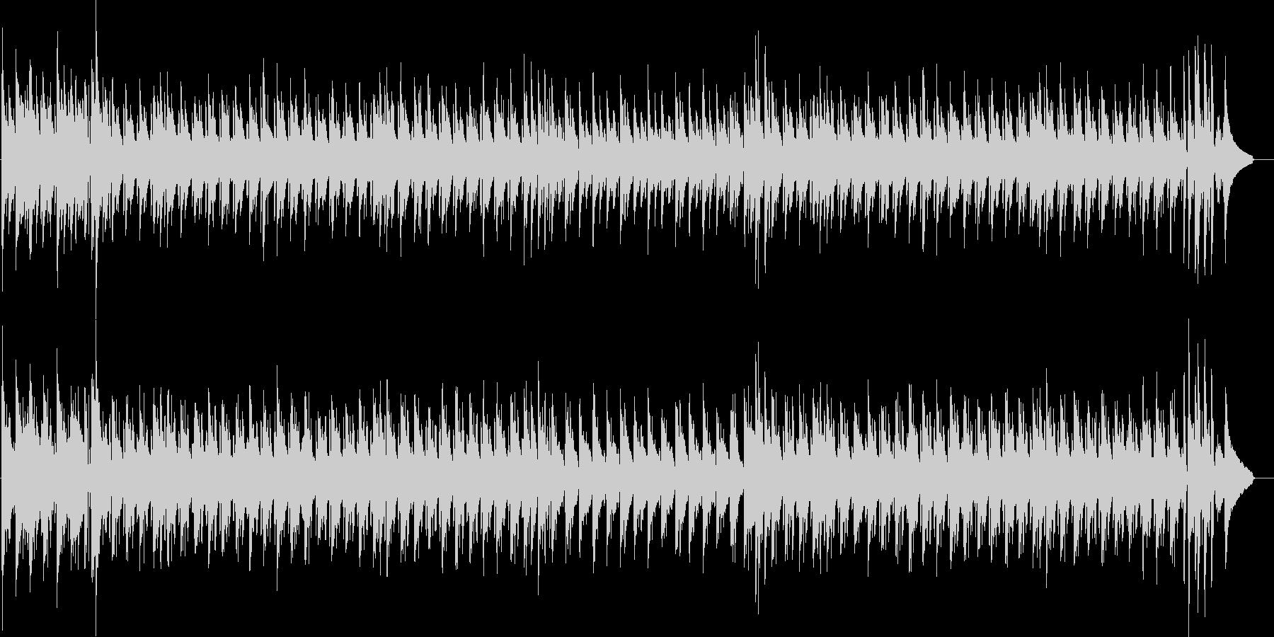 まったりハワイアンな曲の未再生の波形