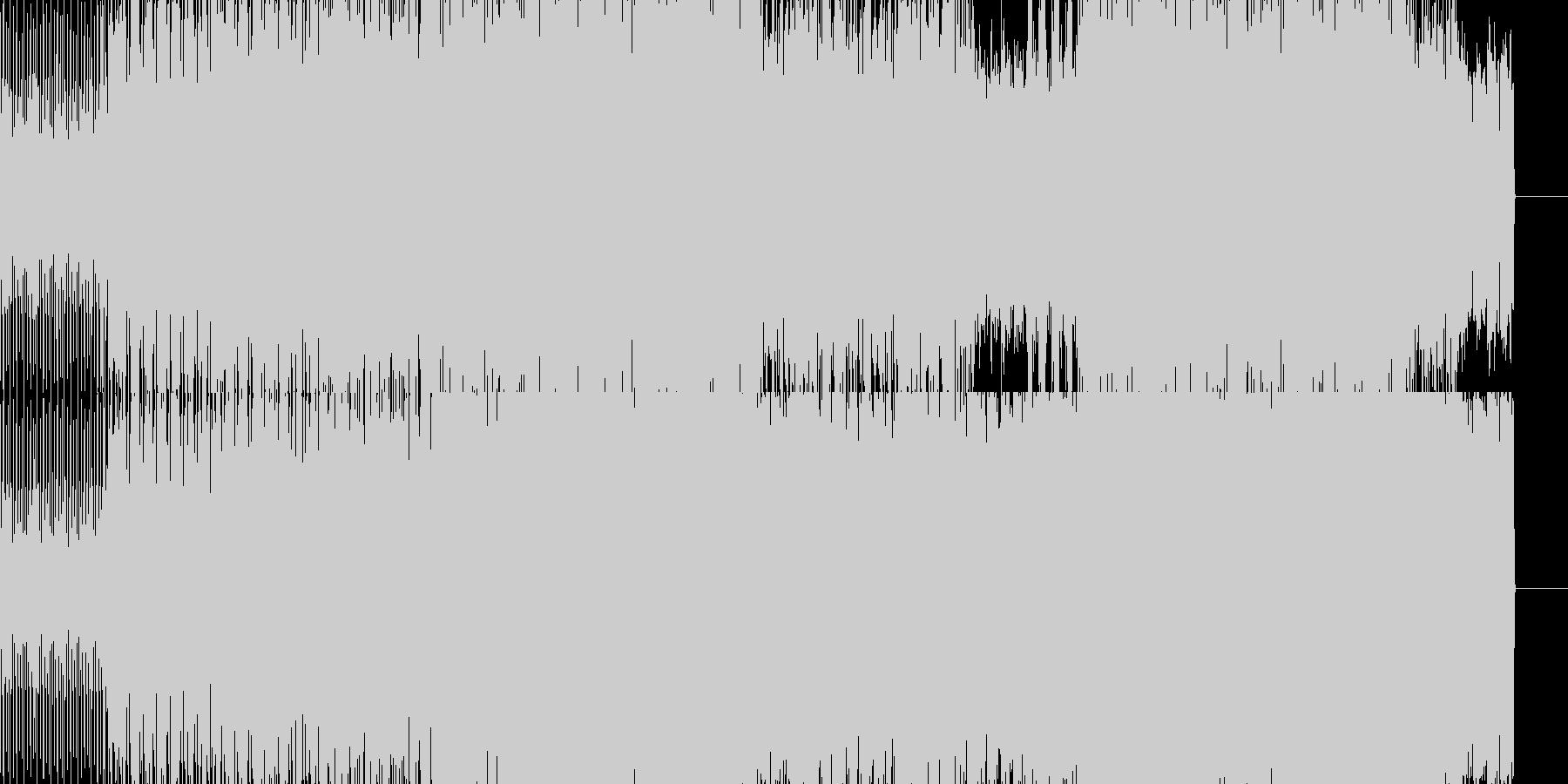 アッパーなビート系BGMです。の未再生の波形