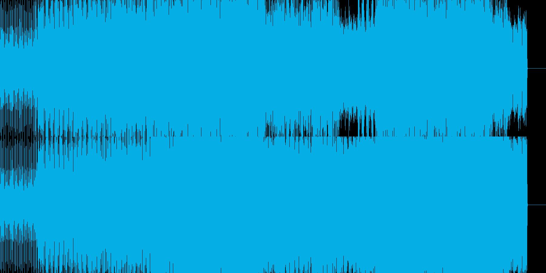 アッパーなビート系BGMです。の再生済みの波形