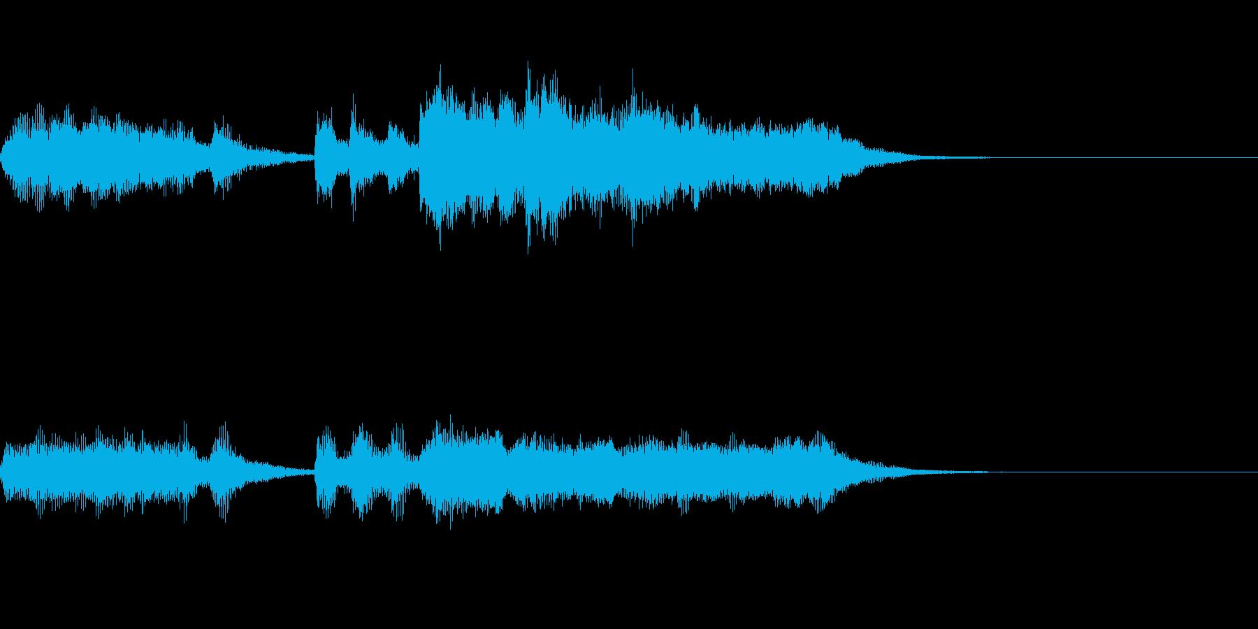 壮大なRPG風の勝利ファンファーレの再生済みの波形