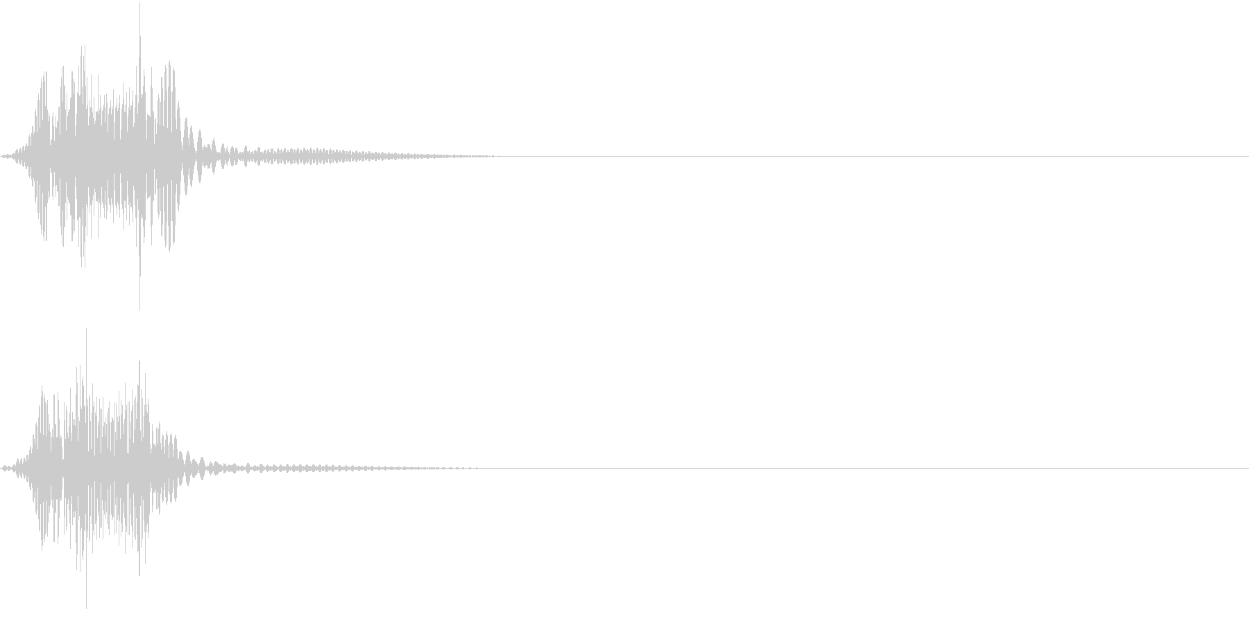 Push 汎用決定・セレクト音 1の未再生の波形