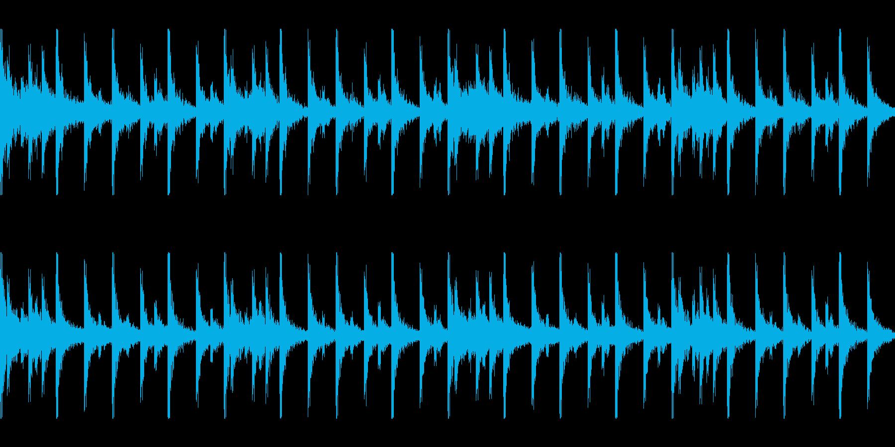勇ましい行進 スネアドラムロール ループの再生済みの波形