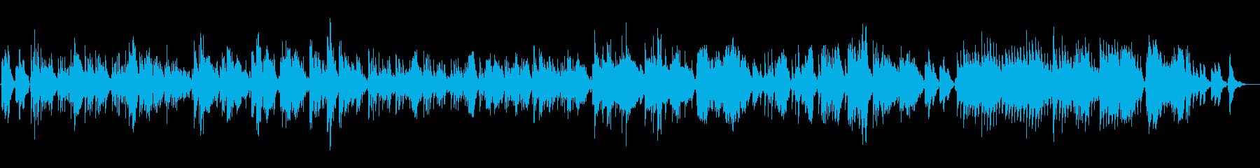 クラシックギターソロによる環境音楽の再生済みの波形