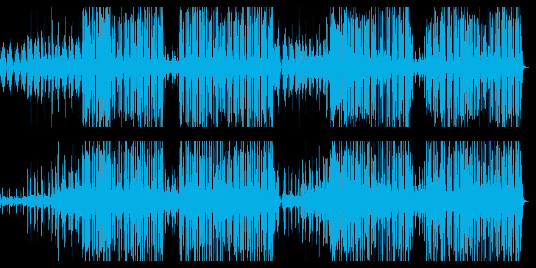 清涼飲料水のCM、スペーシーな音ゲー風の再生済みの波形