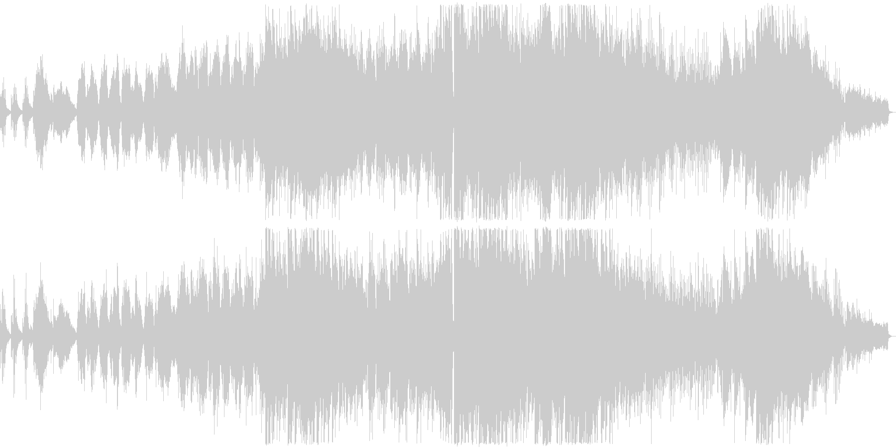 ピアノが印象的な寂しい雰囲気のバラード3の未再生の波形