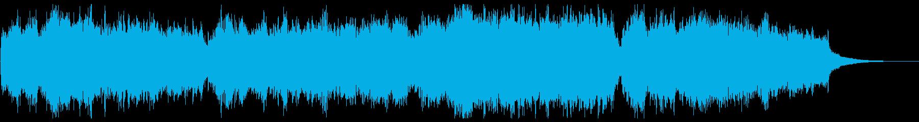 オーケストラ 合唱 勇壮な30秒イントロの再生済みの波形