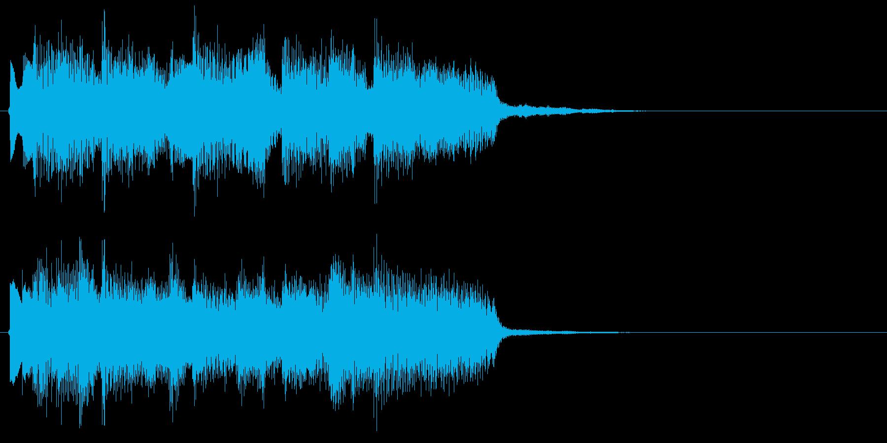 アイドルをイメージしたジングル 4小節Aの再生済みの波形