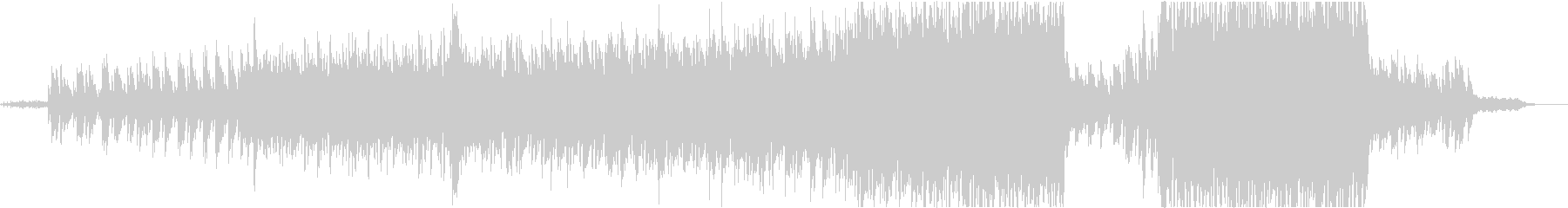 ピアノとストリングス主体の映像的な曲の未再生の波形