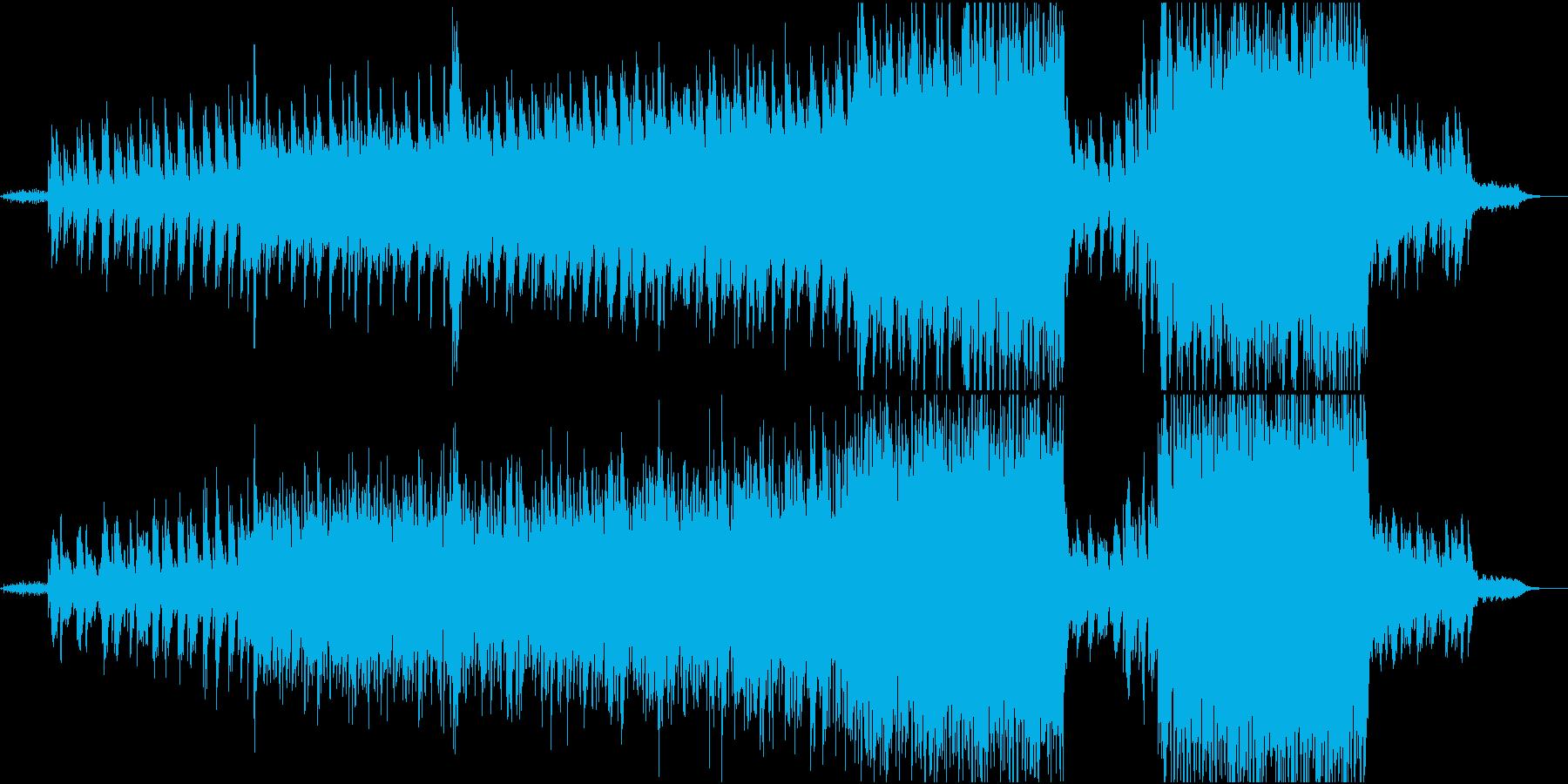 ピアノとストリングス主体の映像的な曲の再生済みの波形