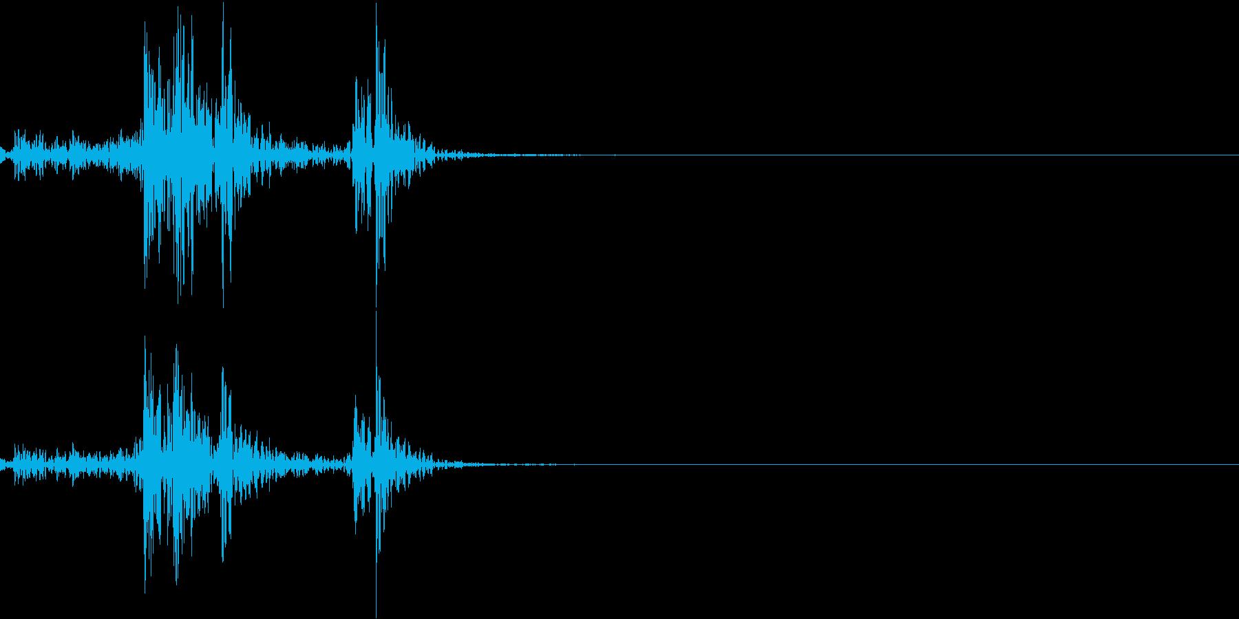 蔵の扉やタンスの取っ手を掴む音の再生済みの波形