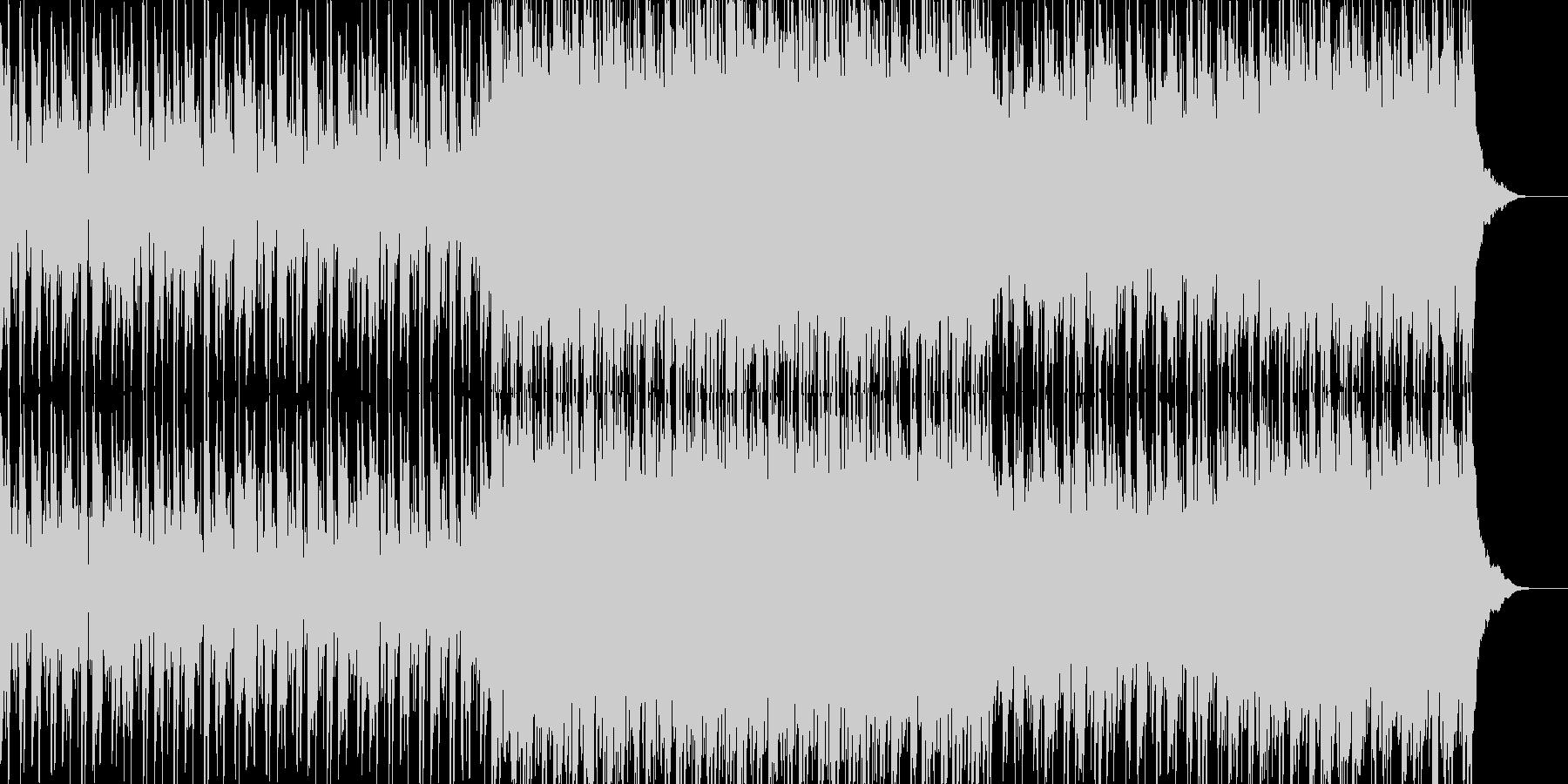 ポップなテーマの曲の未再生の波形