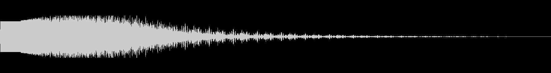 フィニッシュインパクト(KO時の演出音)の未再生の波形