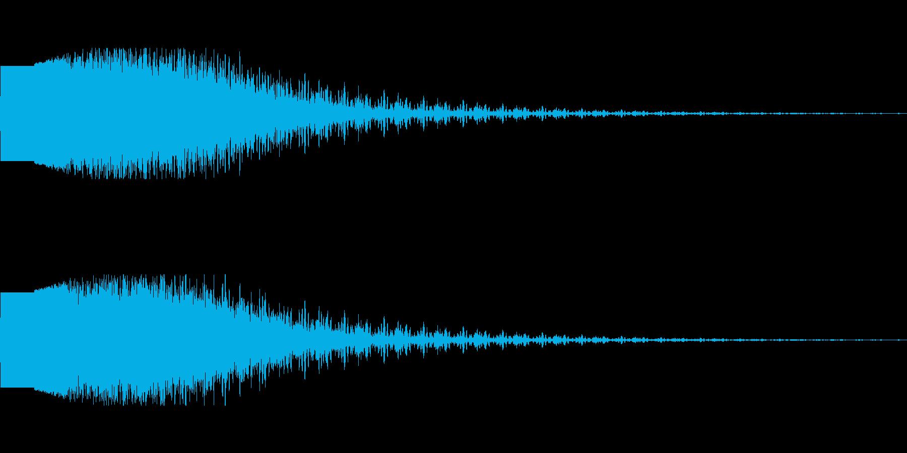 フィニッシュインパクト(KO時の演出音)の再生済みの波形