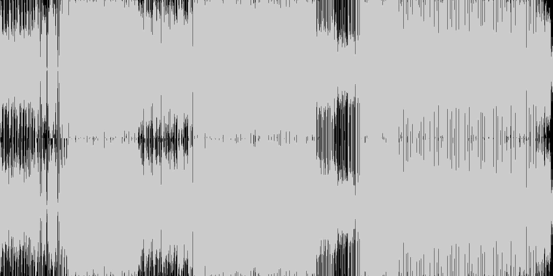 アクションを誘発する扇情的なメタルの未再生の波形
