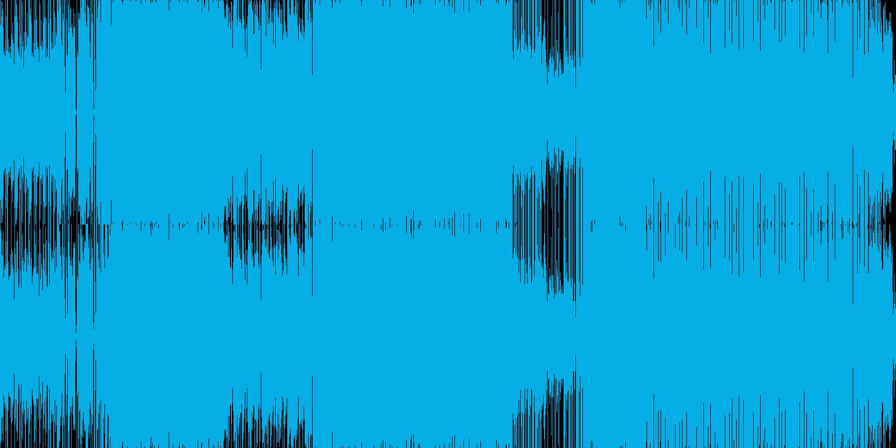 アクションを誘発する扇情的なメタルの再生済みの波形
