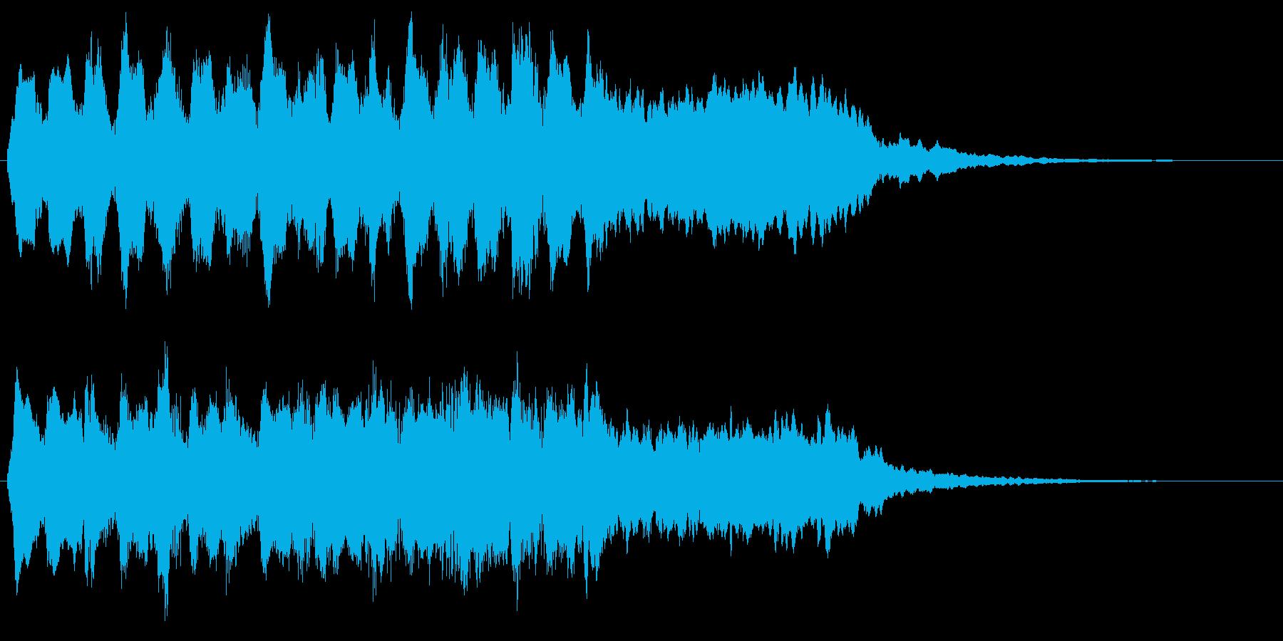 バイオリンのクラシカルなフレーズの転回音の再生済みの波形