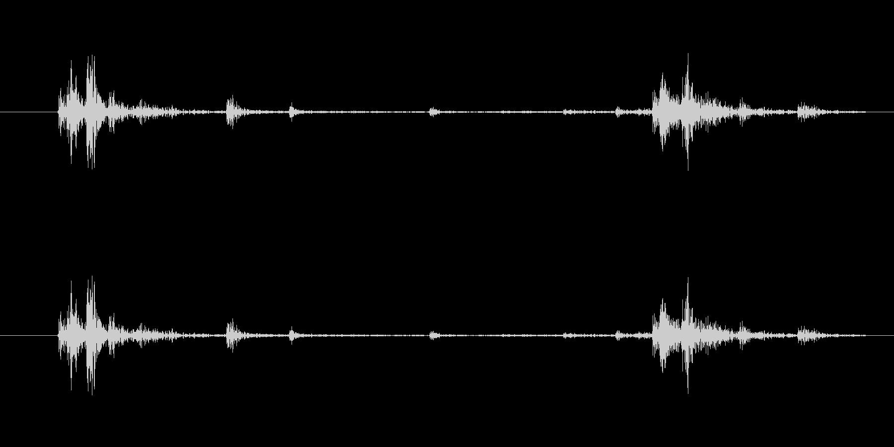 カ……チャ(鍵をかける・開ける)の未再生の波形