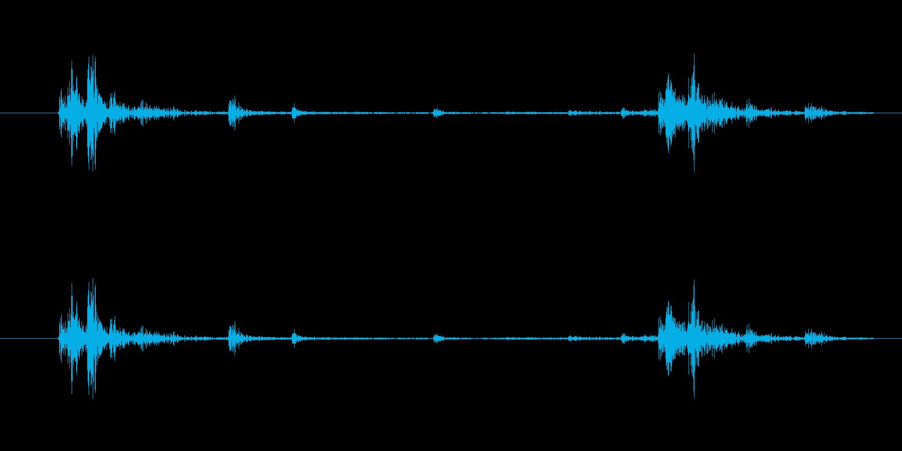 カ……チャ(鍵をかける・開ける)の再生済みの波形