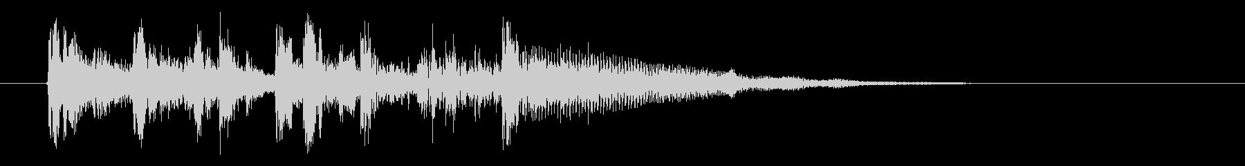 シンセサイザーのゆったりとしたジングルの未再生の波形