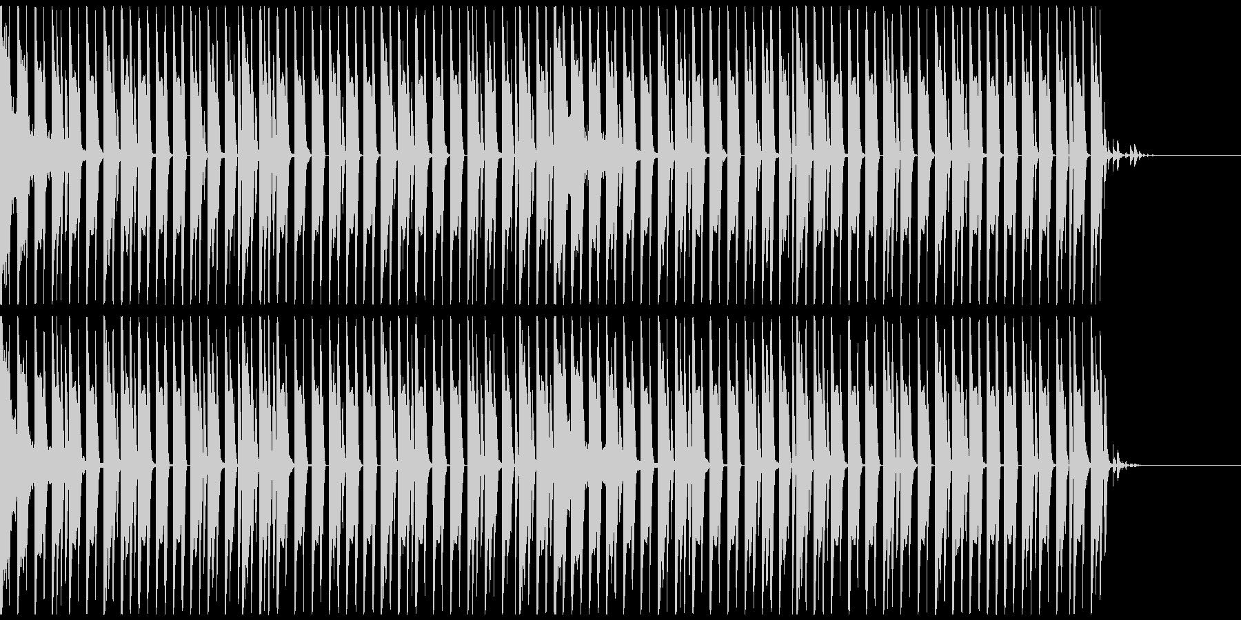 オシャレ・戦闘・スリリングEDM、①の未再生の波形