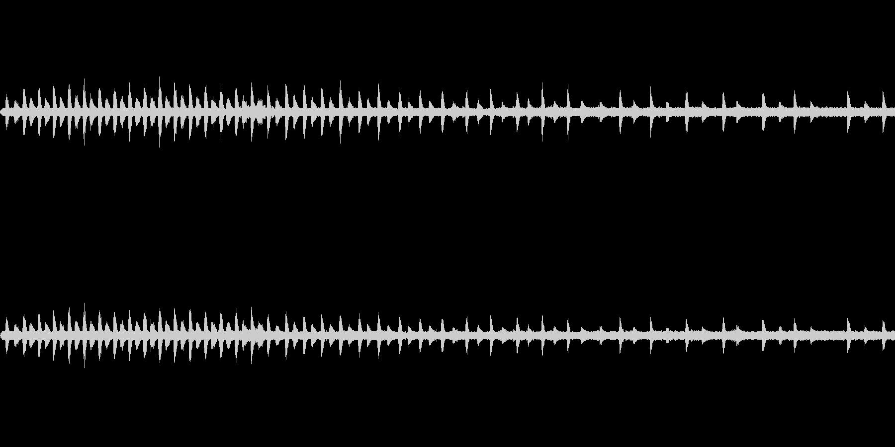 蒸気機関車停車中の未再生の波形