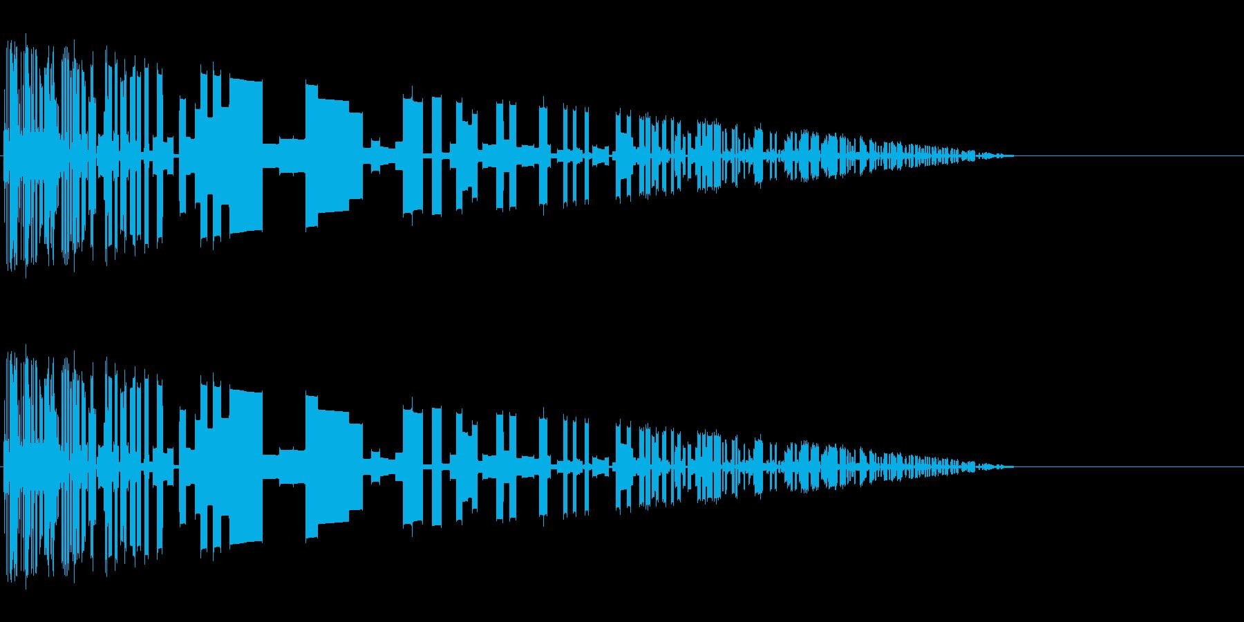 レトロゲーム風爆発音8の再生済みの波形